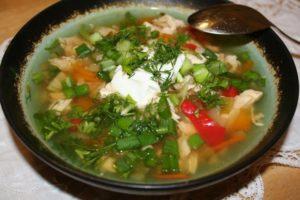 фото и рецепт супа с куриной грудкой для диеты