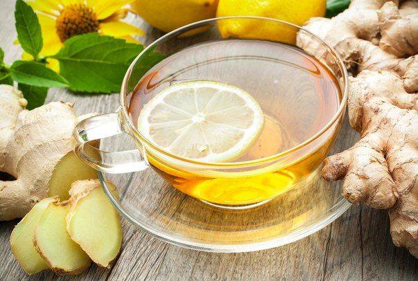 Чай с имбирем, лимоном, мятой
