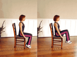 Упражнение для живота сидя за рабочим столом