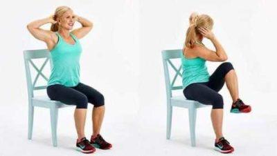 Упражнение для живота сидя на стуле