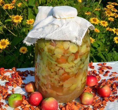 Яблоки в банке для уксуса в домашних условиях