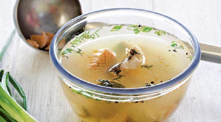 Рыбный диетический суп с сельдереем