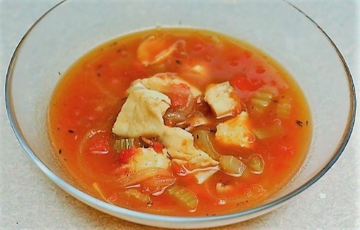 Рыбный суп из трески для диетического питания