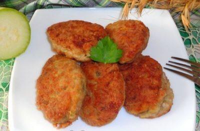 овощные котлеты с кабачком для диеты