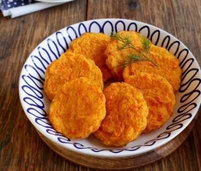 Овощные котлеты из моркови без мяса в духовке