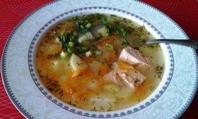 Диетический суп рыбный с сельдереем