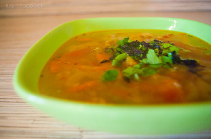 Диетический суп рыбный из горбуши и чечевицы