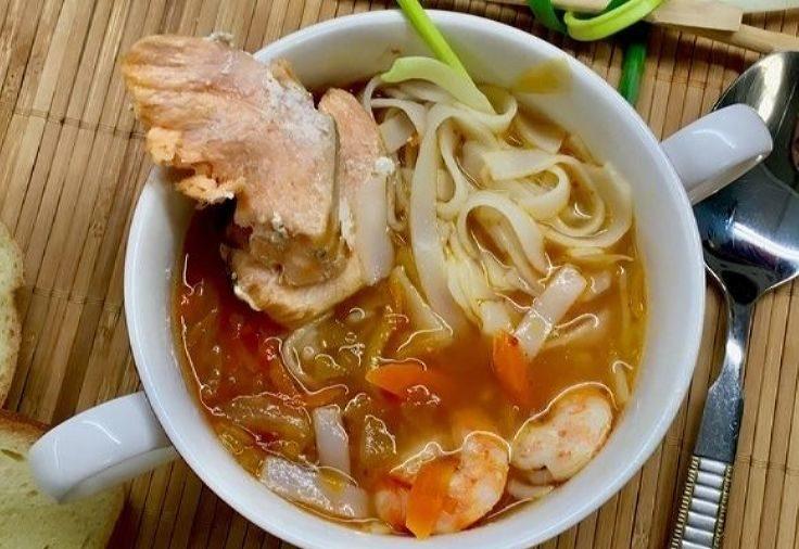 Диетический суп рыбный из наваги
