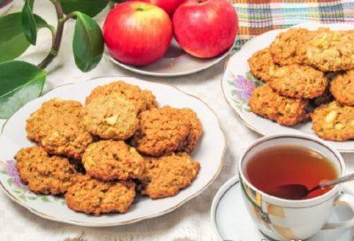 Яблочное диетическое печенье на десерт к чаю