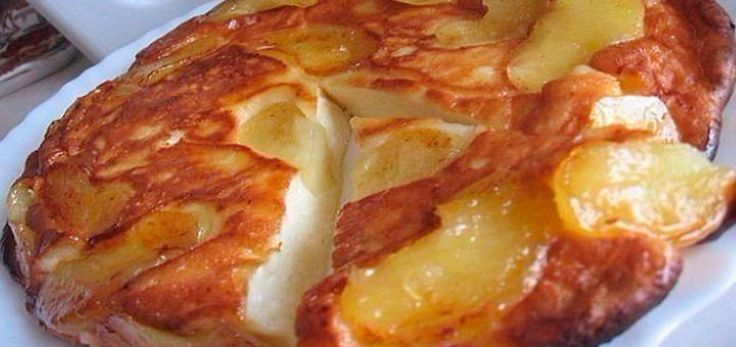 десерт диетический запекается с яблоками и йогуртом