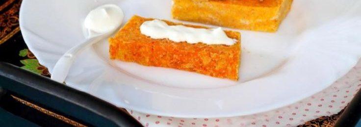 Морковная овощная запеканка для диеты