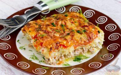 Мясная диетическая запеканка с овощами рецепт