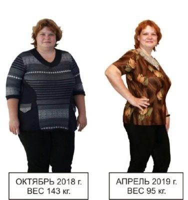 Результат лиепайской диеты минус 48 кг