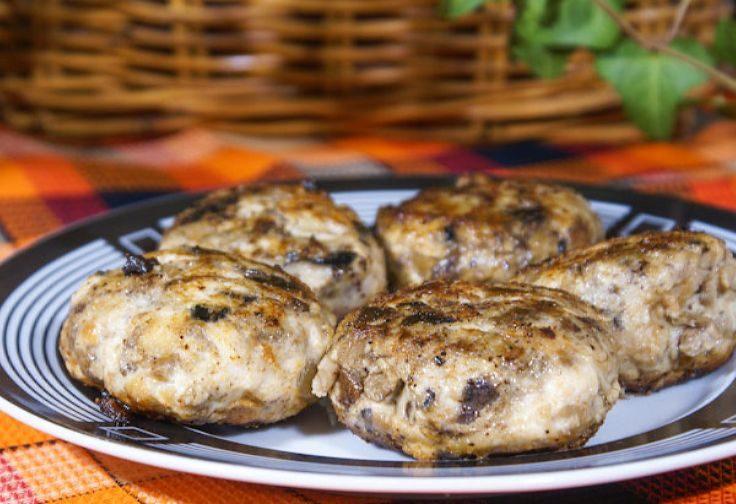 куриные котлеты с грибами постные, диетические