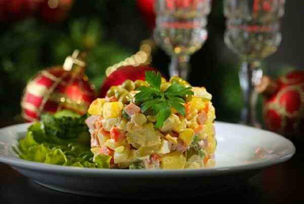 Праздничные салаты диетические рецепты