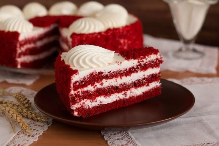 Фото торта диетического Красный бархат
