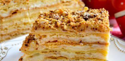 Рецепт диетического торта Наполеон пошагово