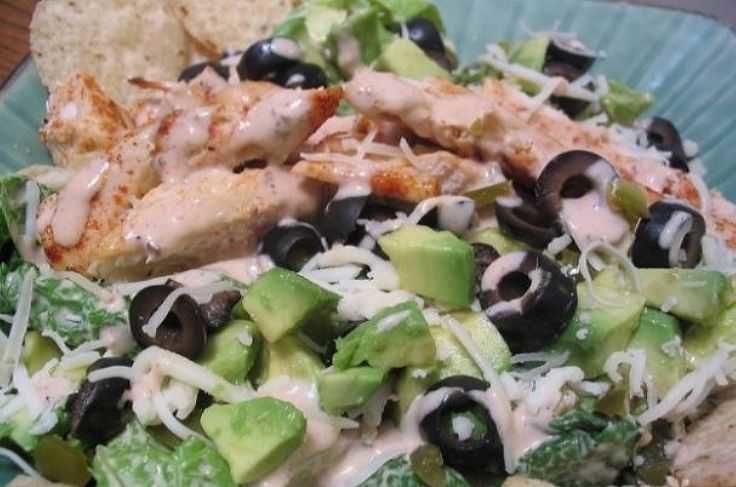 Рецепт диетического салата с курицей