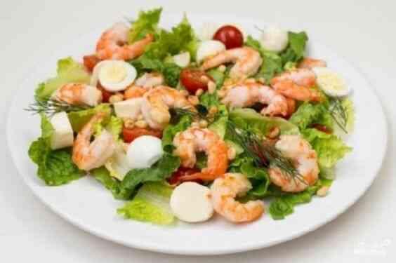 Салат с креветками белковый