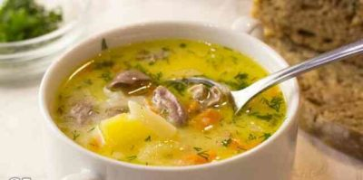 Гороховый суп с сердечками в мультиварке