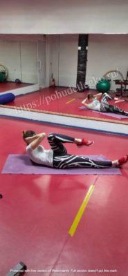 Упражнение для похудения боков и живота
