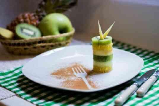 Фруктовый десерт на праздничный стол