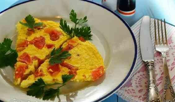 Диетический омлет на завтрак рецепт