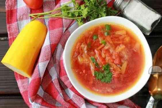 Суп овощной жиросжигающий