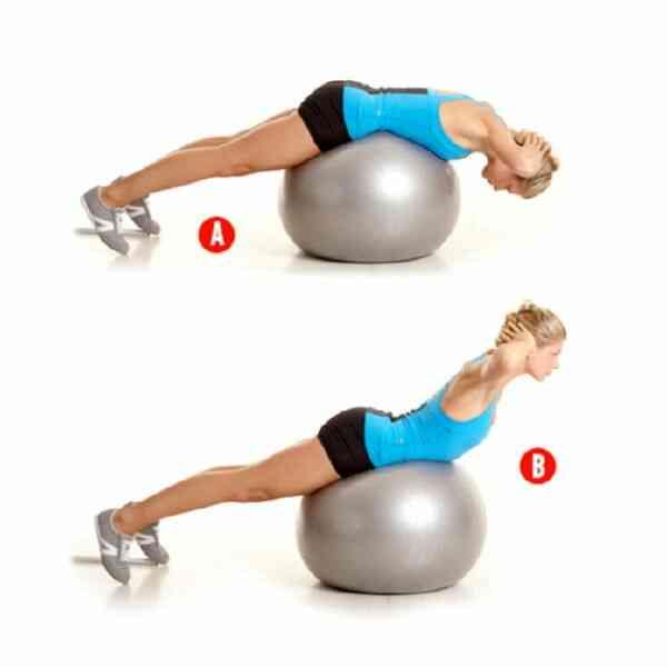 Фитбол для похудения спины