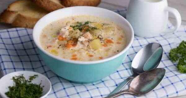 Диетический рецепт сырного супа с курицей