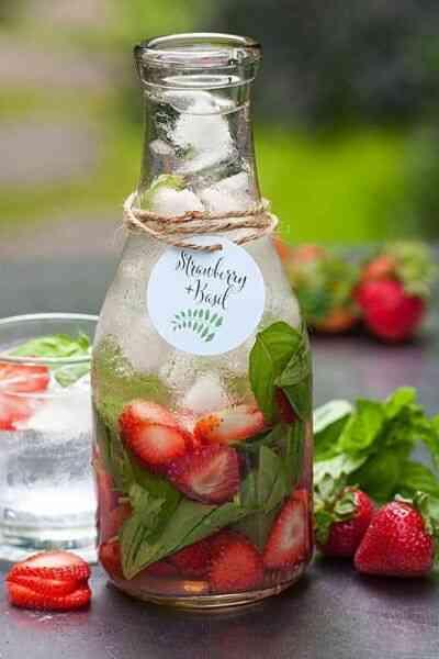 Детокс-вода рецепт с клубникой