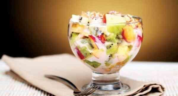 Десерт без муки и сахара из фруктов