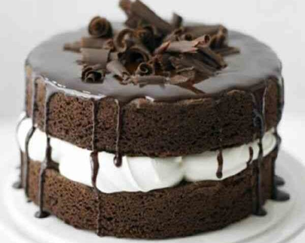 Шоколадный диетический торт без муки и сахара