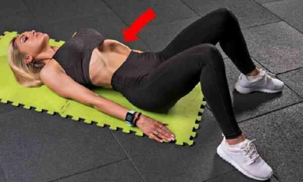 Похудение живота упражнением вакуум лежа